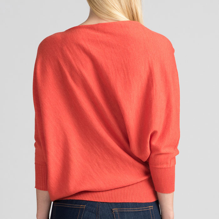 Untouched World Cubic Sweater in Tangerine Back