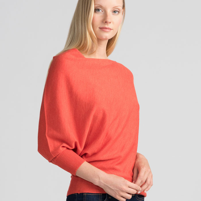 Untouched World Cubic Sweater in Tangerine Front