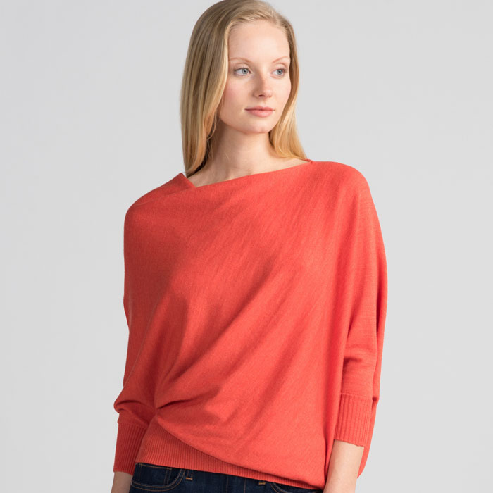 Untouched World Cubic Sweater in Tangerine