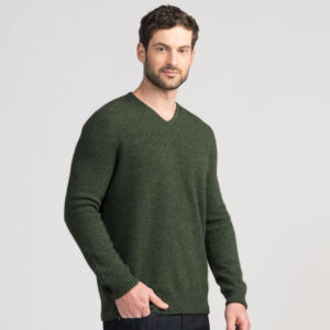 Untouched World Classic V Neck in Matipo Green