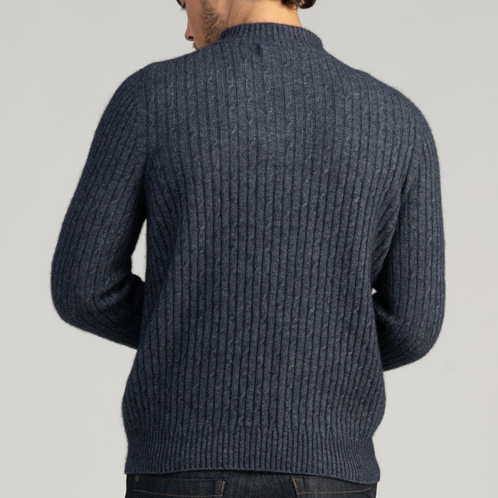 MM Cable Half Knit in River Back