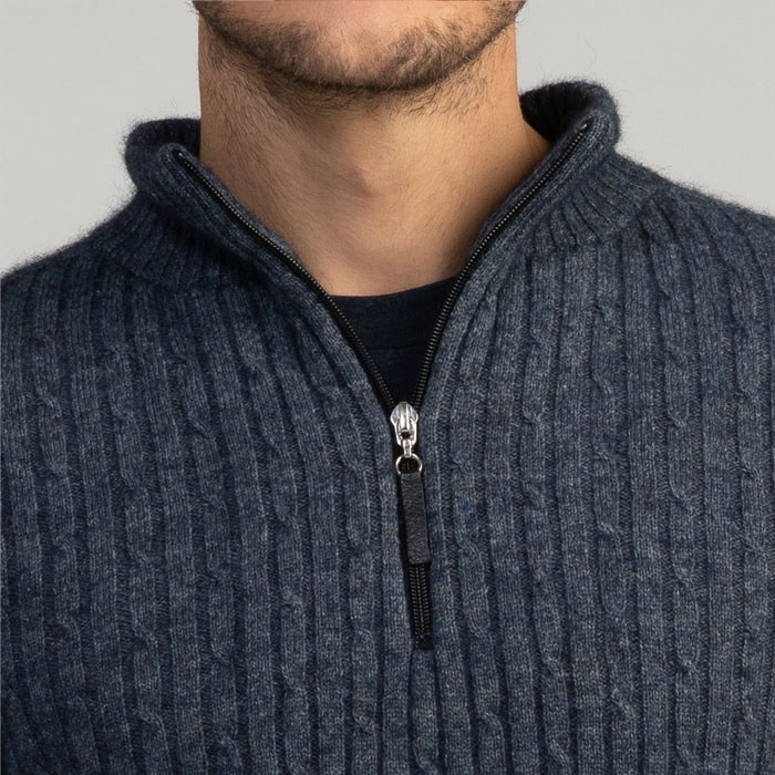 MM Cable Half Knit in River Detail