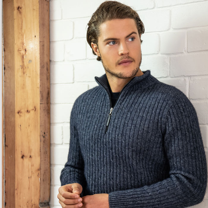 MM Cable Half Knit in River