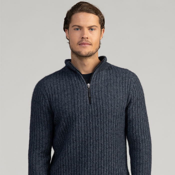 MM Cable Half Knit in River Front