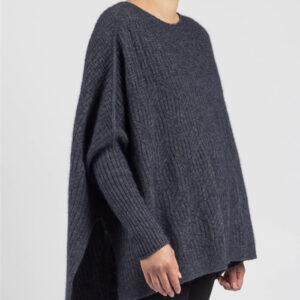 Merino Mink Weave Sweater in River