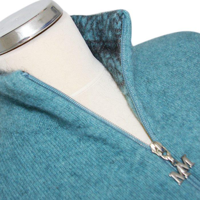 Possum Merino Felted Jacket in Mist Collar Detail 2