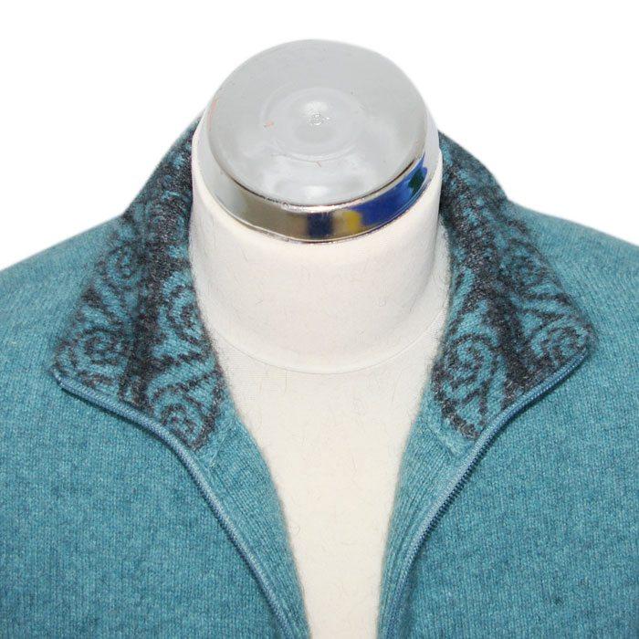 Possum Merino Felted Jacket in Mist Collar Detail