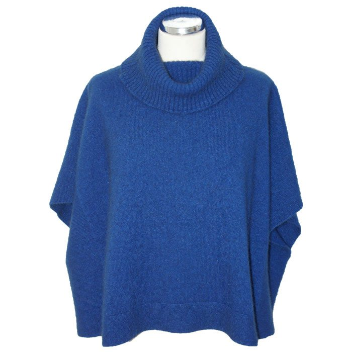 Possum Merino Lanarch Cape in Royal Blue