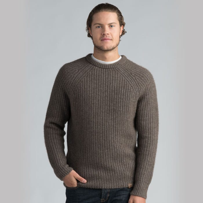 Possum Merino Tekapo Crew Neck in Pebble
