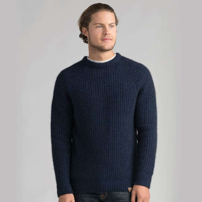Possum Merino Tekapo Crew Neck in Zephyr