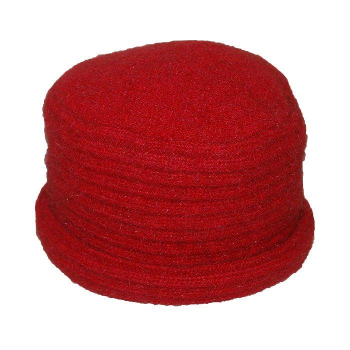 Possum Merino Felted Hat in Fiery Red