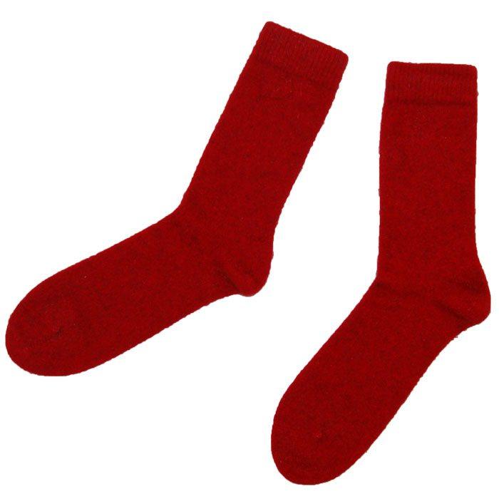 Possum Merino Socks in Red