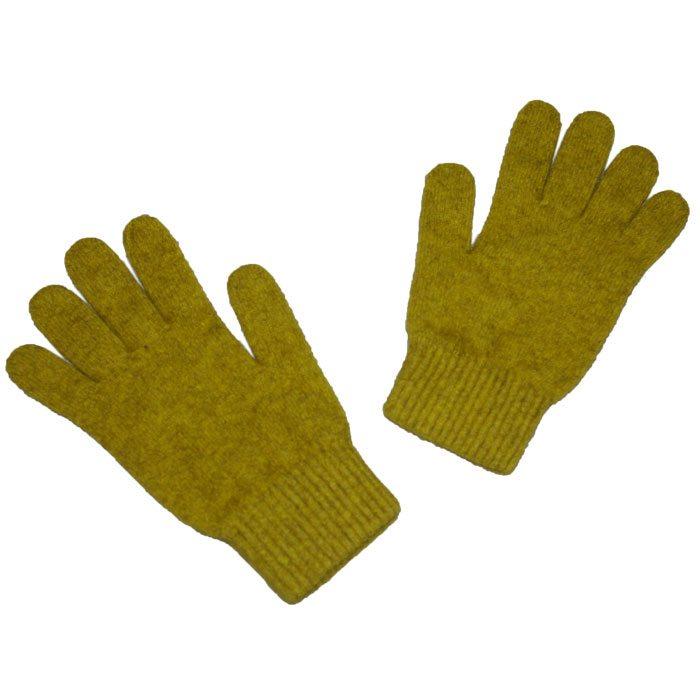 Possum Merino Gloves in Golden Pearl