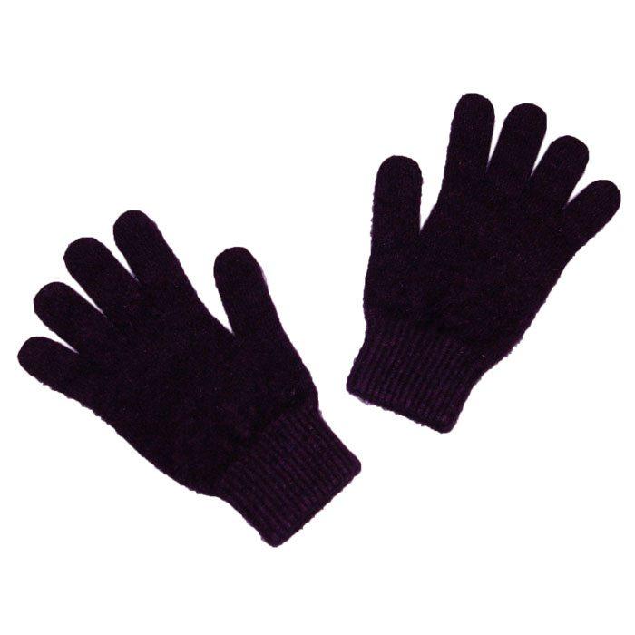 Possum Merino Gloves in Plum