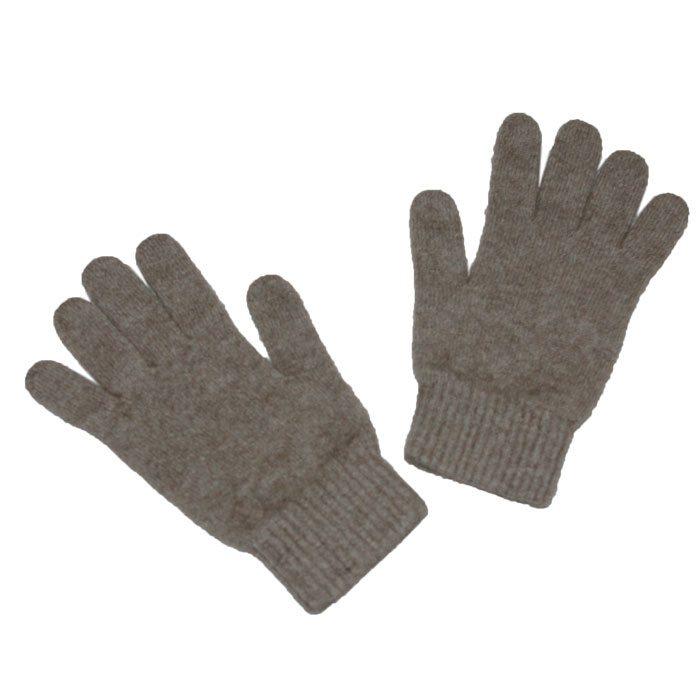 Possum Merino Gloves in Stone