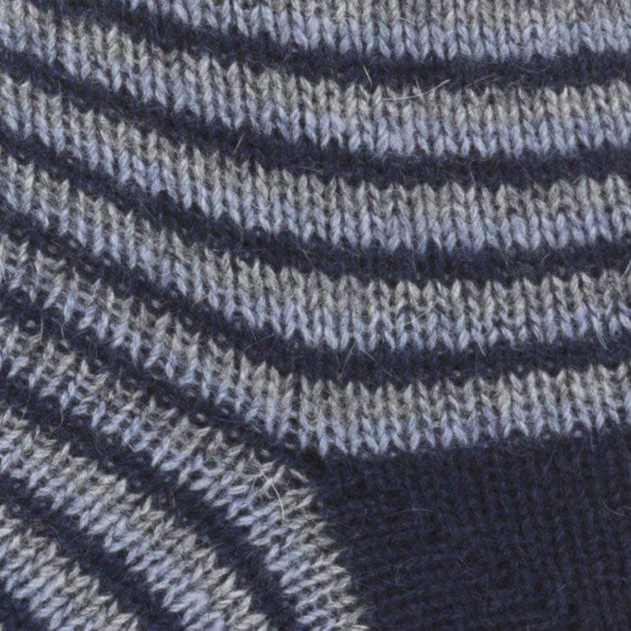 Native World Possum Merino Ladies Fine Stripe Ladies Socks in Twilight Detail