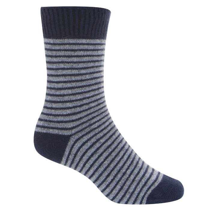 Native World Possum Merino Ladies Fine Stripe Ladies Socks in Twilight