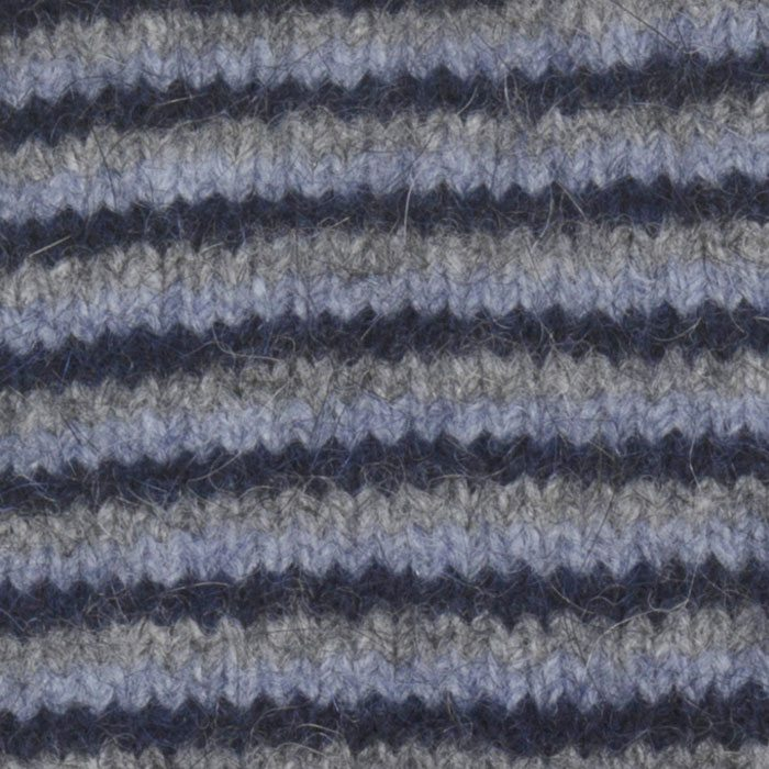 Native World Possum Merino Fine Stripe Wristwarmers in Twilight Detail