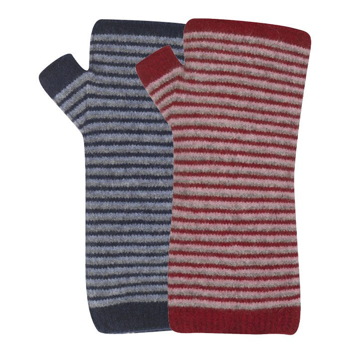 Native World Possum Merino Fine Stripe Wristwarmers