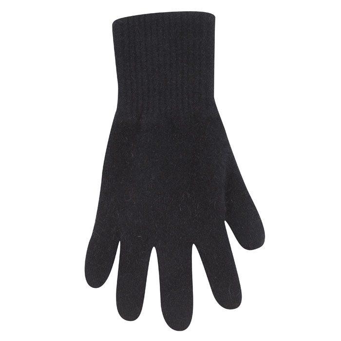 Possum Merino Native World Two Tone Gloves in Black