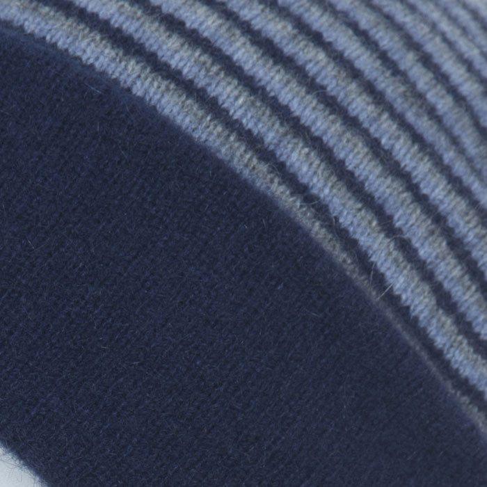 Native World Possum Merino Reversible Beanie Hat in Twilight Detail