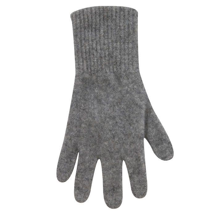 Possum Merino Native World Two Tone Gloves in Silver