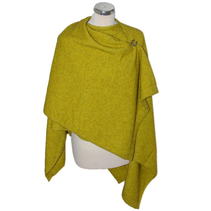 Merino Mink Resort Wrap in Golden 4