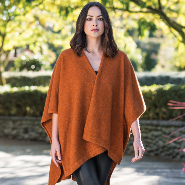 Possum Merino Resort Wrap in Paprika