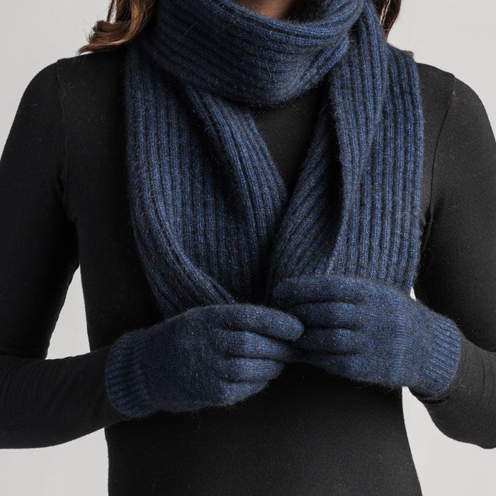 Merino Mink Gloves in Zephyr