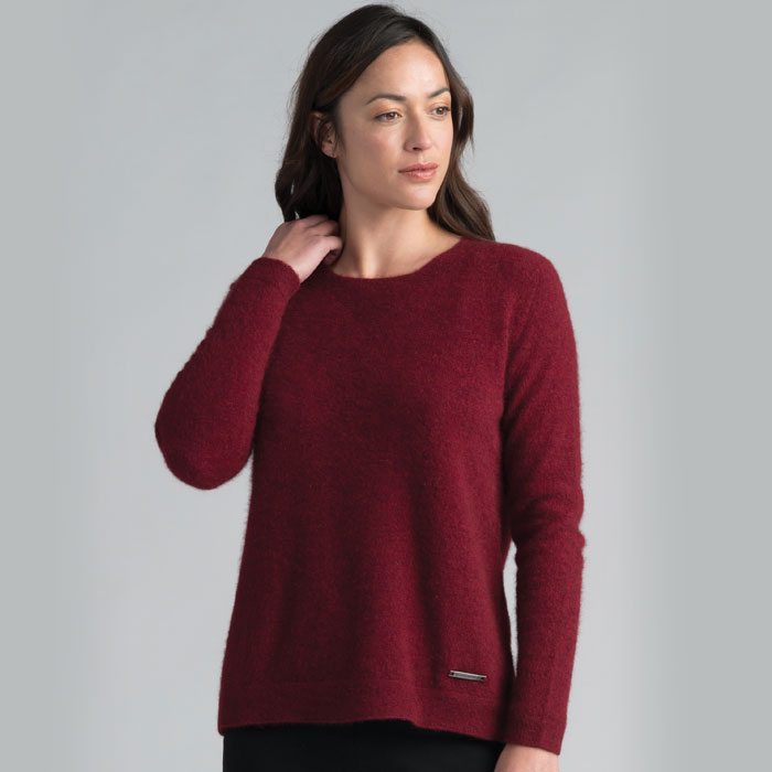 Merino Mink Relaxed Sweater in Woolshed