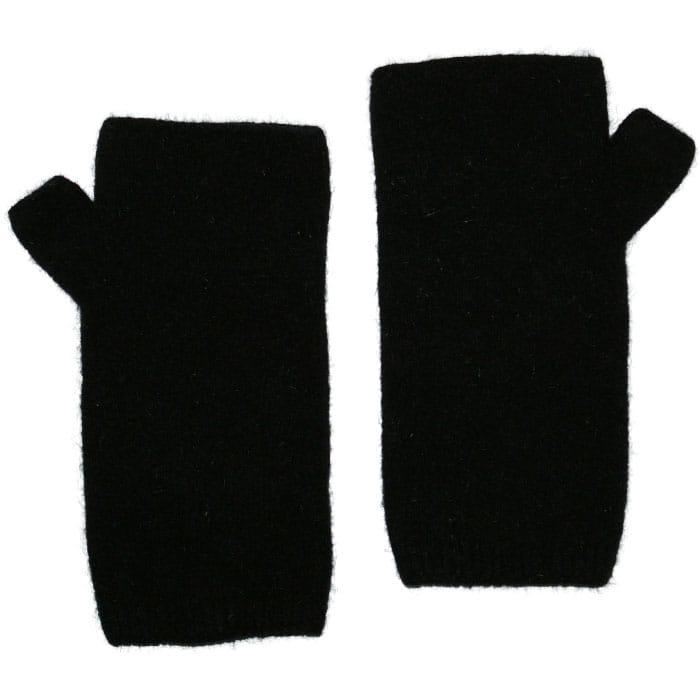 Native World Possum Merino Wristwarmers in Black