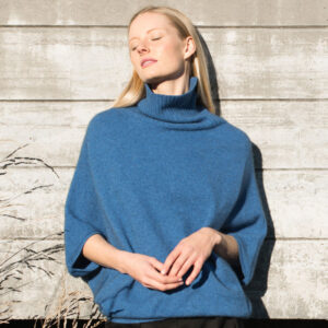 Possum Merino Untouched World Air Cape Sweater