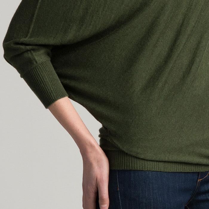 Possum Merino Untouched World Cubic Sweater in Serpentine Detail