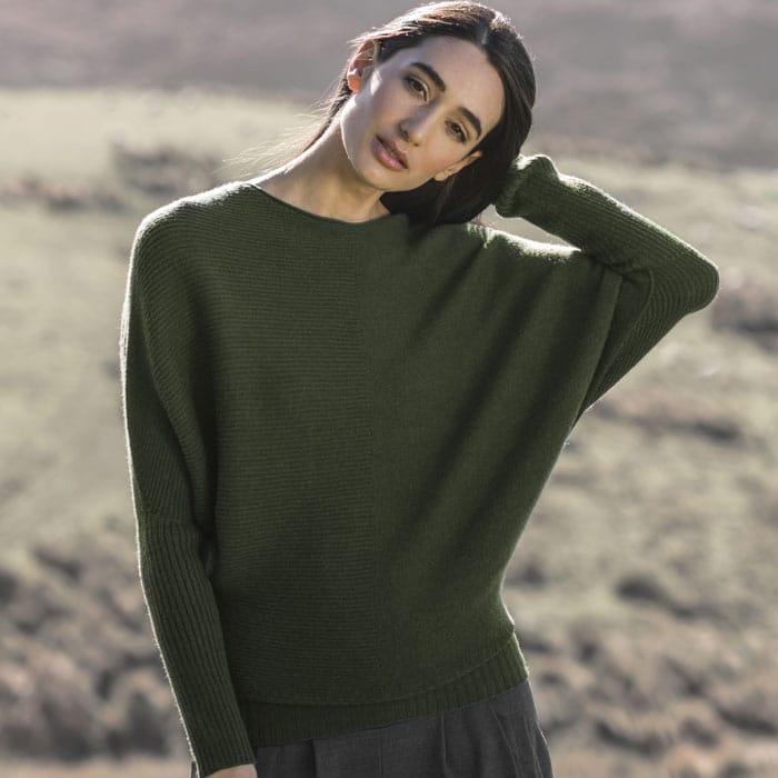 Possum Merino Untouched World Flitch Sweater in Serpentine Lifestyle