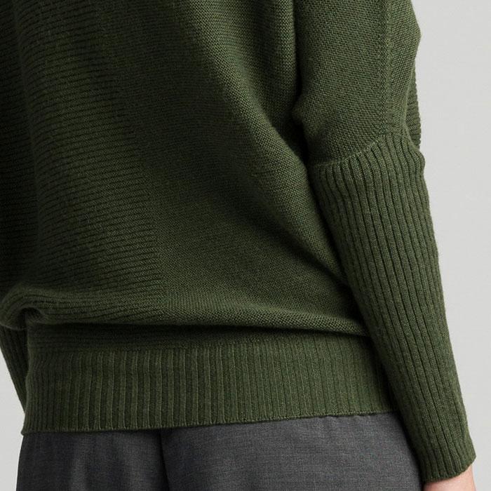 Possum Merino Untouched World Flitch Sweater in Serpentine Back Detail