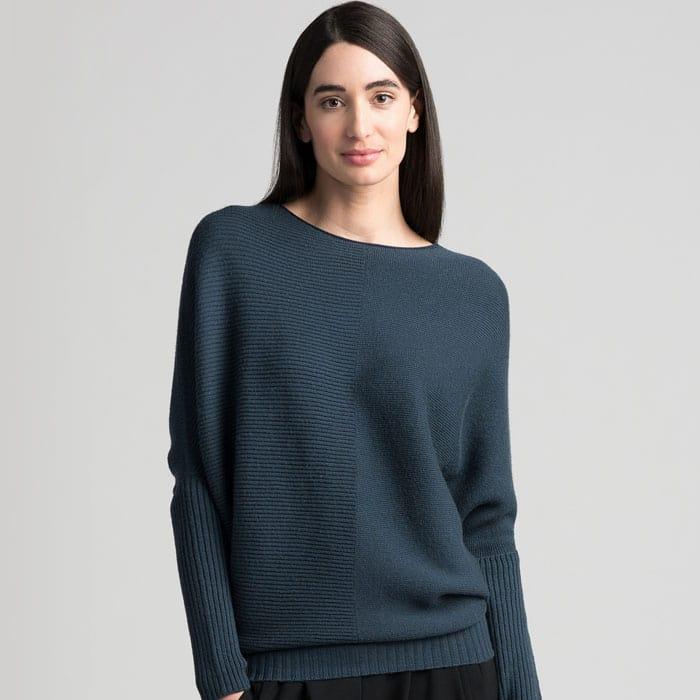 Possum Merino Untouched World Flitch Sweater in Steel Main