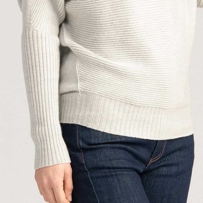 Possum Merino Flitch Sweater in Silver Detail