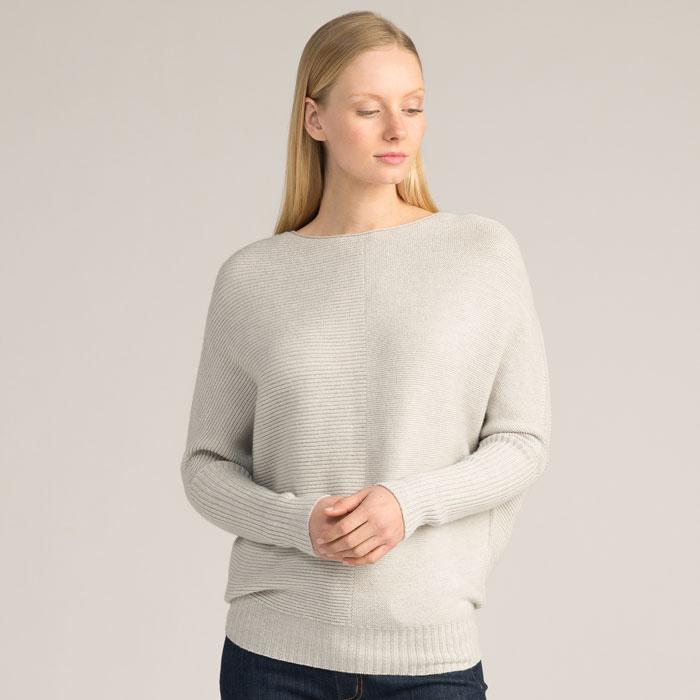Possum Merino Flitch Sweater in Silver