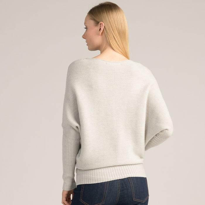 Possum Merino Flitch Sweater in Silver Back